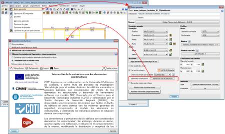CYPECAD. Interacción de la estructura con los elementos constructivos. Generación automática de estados intermedios