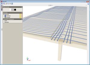 CYPECAD. Losas postesadas para edificación. Vistas 3D de tendones postesados