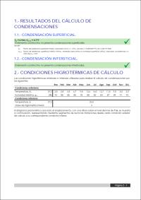 CYPETHERM ISO 13788. Listado de cálculo