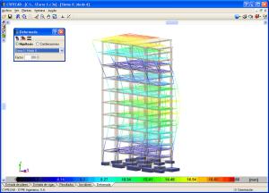 CYPECAD - Deformada de la estructura en 3D